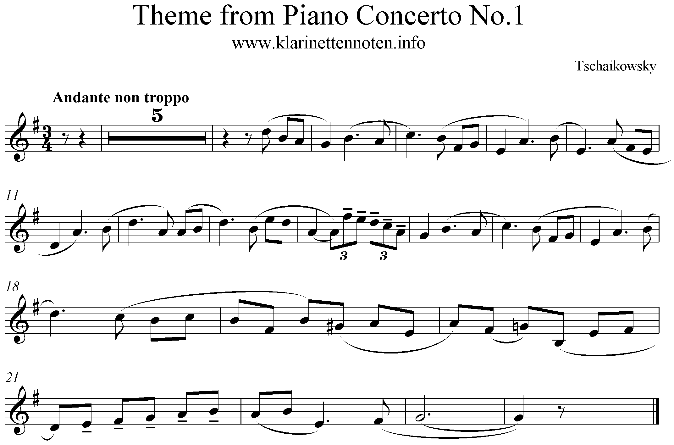 Theme from Piano Concerto No1 Tschaikowsky